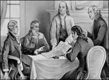 Declaration committee: Jefferson, Adams, Franklin, Sherman, and Livingston